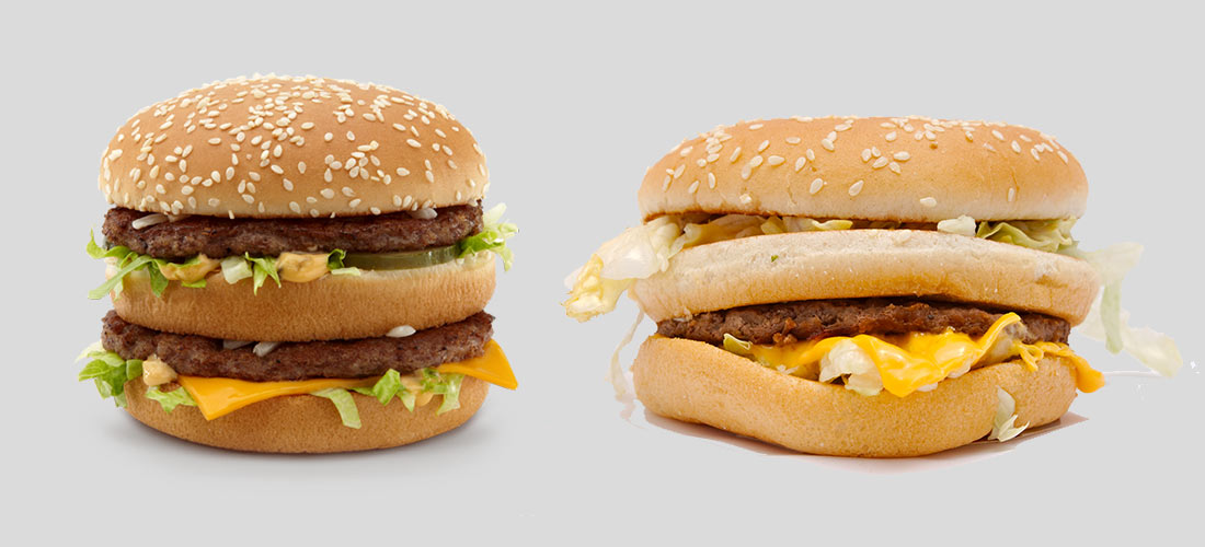 Two big macs, side by side